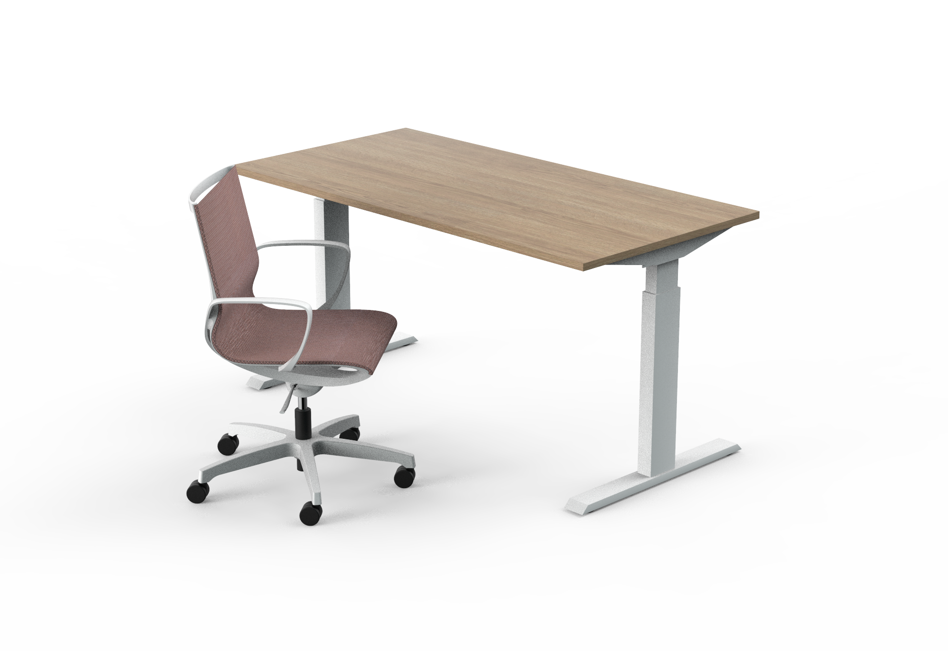 set židle a stůl výškově nastavitelný elektrický