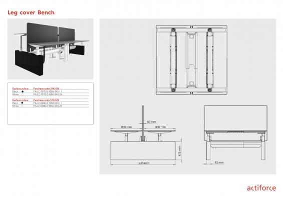 Leg cover Bench - pro série 470