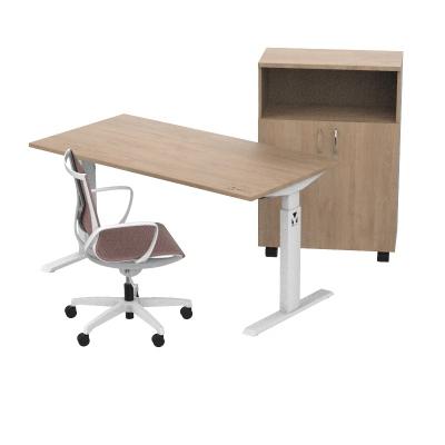 Kancelářský set stůl, židle a skříňka - MyDesk OAK +