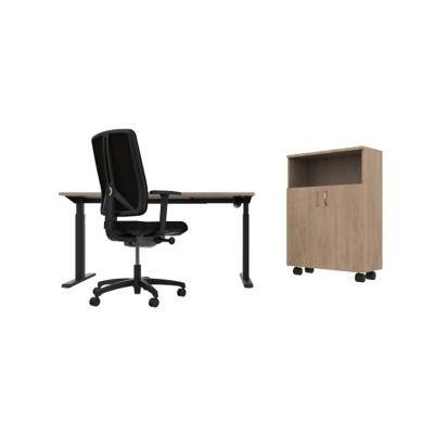 Kancelářský set stůl, židle a skříňka - MyDesk FLEXI +